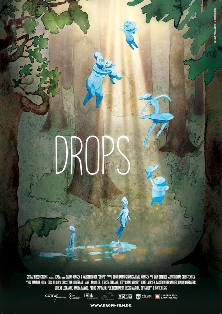 Original kort fiktion animation Drops produceret af Gotfat filmproduktion